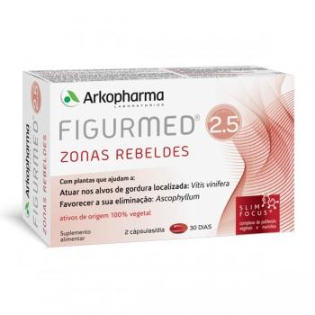 ARKOPHARMA FIGURMED 2.5 ZONAS REBELDES CAPSULAS 60 UNIDADE(S) COM OFERTA DE CAIXA PARA COMPRIMIDOS + VALE POLIFENOIS